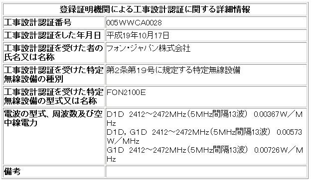 Fon2100e